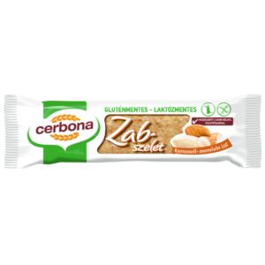 Cerbona gluténmentes karamell-mandula ízű zabszelet 40g
