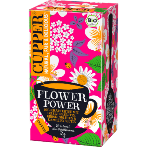 Cupper bio Flower Power - élénkítő tea - 20 filter 35g