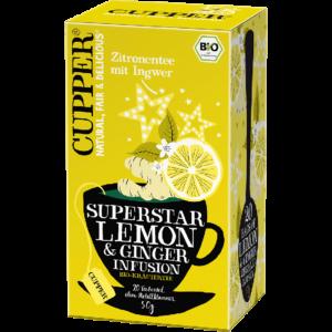 Cupper bio Lemon & Ginger - citromos tea gyömbérrel - 20 filter 50g
