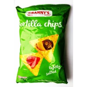 Granny's enyhén sós tortilla chips gluténmentes 150g