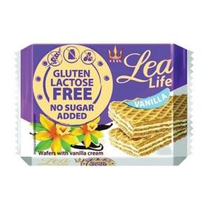Lea Life vanília krémmel töltött glutén- és laktózmentes ostya 95g