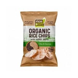 Rice Up bio barna rizs chips chia maggal és quinoával 25g