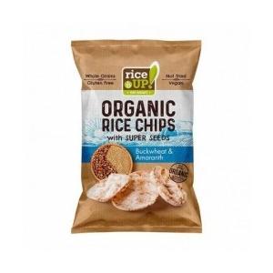 Rice Up bio barna rizs chips hajdinával és amaránttal 25g