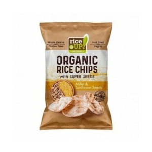 Rice Up bio barna rizs chips kölessel és napraforgóval 25g