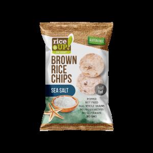 Rice Up barna rizs chips tengeri sós ízű 60g