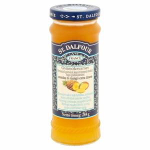 St.Dalfour gyümölcsvarázs ananász és mangó extra dzsem 284g