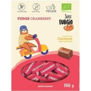 Super Fudgio bio tejmentes vörösáfonyás karamella 150g