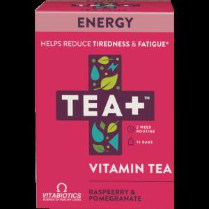 TEA+ málna és gránátalma energia tea - 14 filter 28g