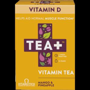TEA+ mangó és ananász D-vitamin tea - 14 filter 28g