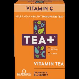 TEA+ narancs és áfonya C-vitamin tea - 14 filter 28g