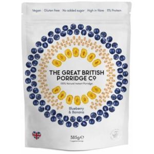 The Great British Porridge áfonya és banán zabkása 385g