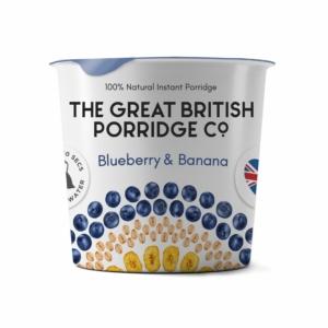 The Great British Porridge áfonya és banán poharas zabkása 60g