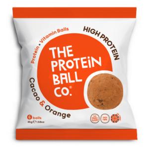 The Protein Ball Co. kakaó és narancs protein golyók 45g