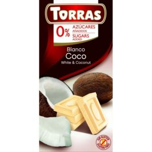 Torras kókuszos fehércsokoládé 75g