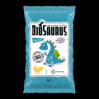 """Biopont bio kukoricás snack, tengeri sós """"Bio Saurus Junior"""" 50g"""
