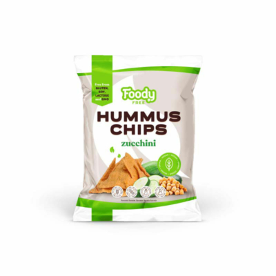 Foody Free gluténmentes hummus chips cukkinivel 50g