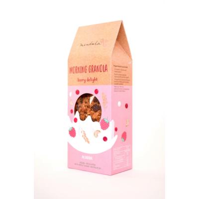 Mendula Morning Granola: málnás-vörösáfonyás granola kesudióval 300g