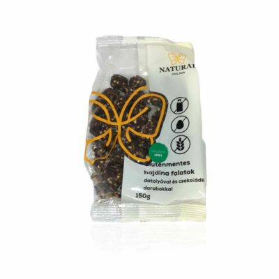 Natural gluténmentes hajdinás falatok datolyás-csokis 150g