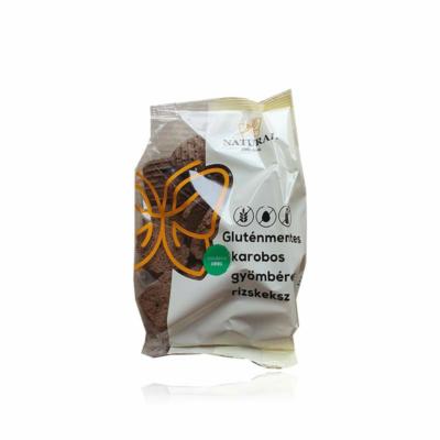 Natural gluténmentes rizskeksz - karobos-gyömbéres 150g