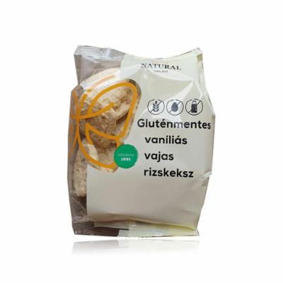 Natural gluténmentes rizskeksz - vajas-vaníliás 100g