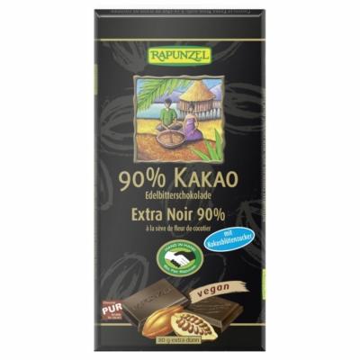 Rapunzel bio 90%-os keserűcsokoládé kókuszvirágcukorral 80g