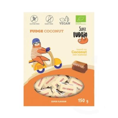 Super Fudgio bio tejmentes kókuszos karamella 150g
