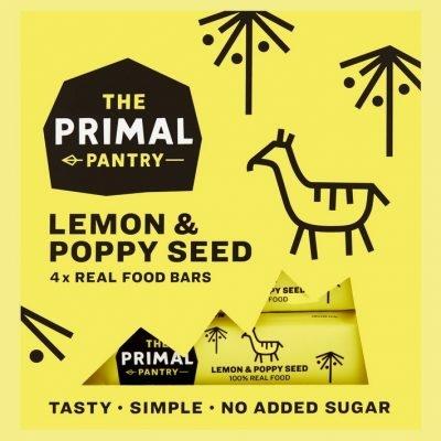 The Primal Pantry multipack citrom és mák szeletek 4x30g