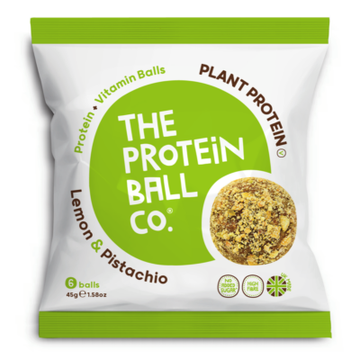 The Protein Ball Co. citrom és pisztácia protein golyók 45g