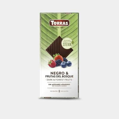 Torras Stevia erdei gyümölcsös étcsokoládé édesítőszerrel 125g