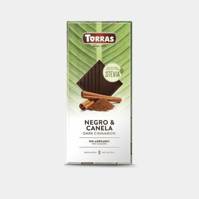 Torras Stevia fahéjas étcsokoládé édesítőszerrel 125g