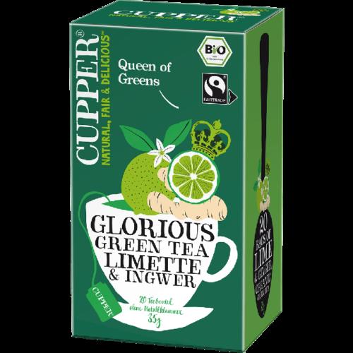 Cupper bio Glorius Green Tea - zöld tea lime és gyömbér - 20 filter 35g
