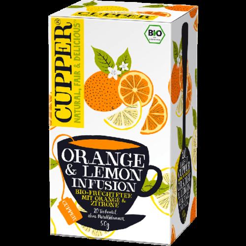 Cupper bio Orange & Lemon - narancs és citrom gyümölcstea -20 fliter 50g